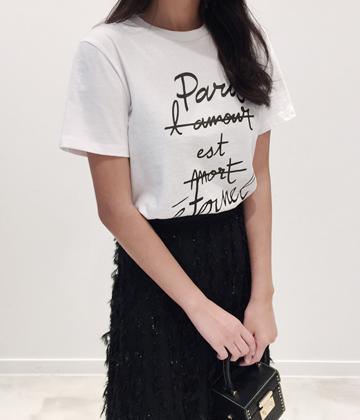 파리영문티셔츠